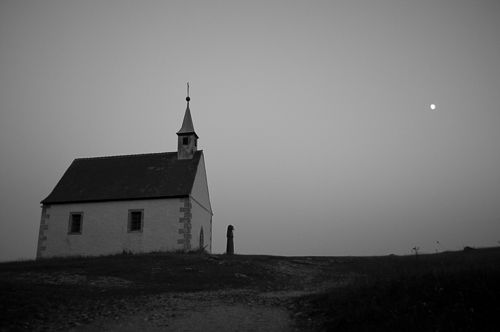 The church on top of the mountain near the climbing spot.