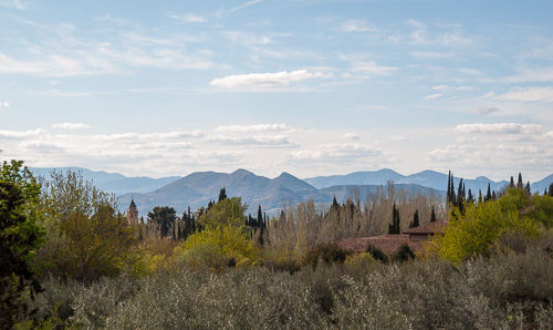 Mountain chain seen from Granada.