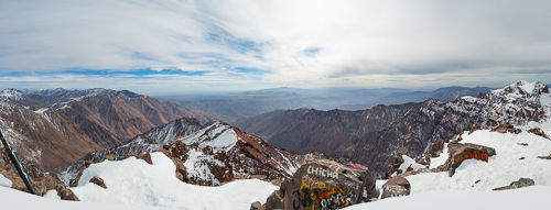Panorama taken at Toubkal summit.