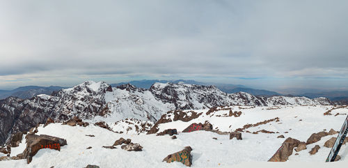 Second part of the panorama taken at Toubkal summit.