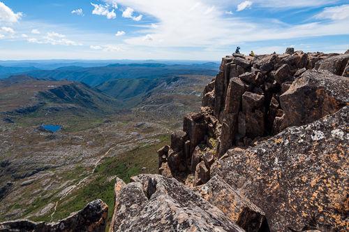 On Cradle Mountain summit.