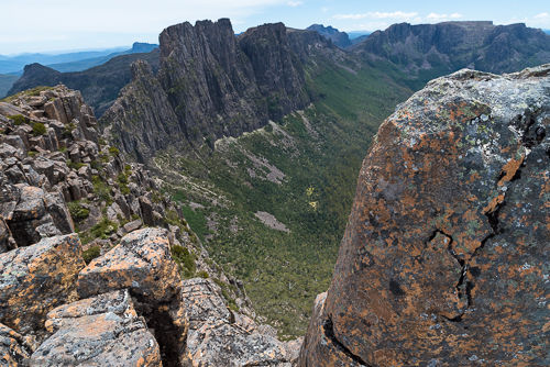 View from the summit of the Acropolis towards Mt. Geryon.