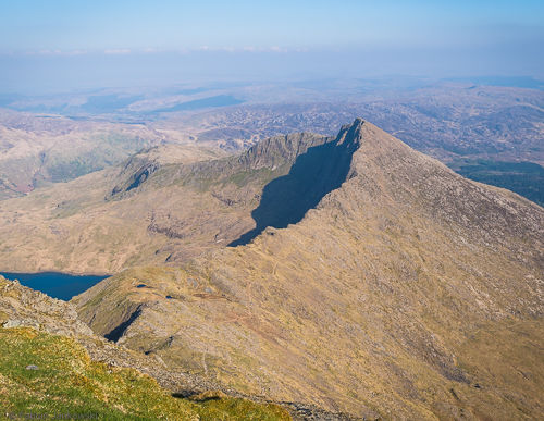 Y Lliwedd as seen from Snowdon summit.